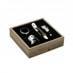 Legnoart gift set + Wine package 4 bottles M.O.olivara
